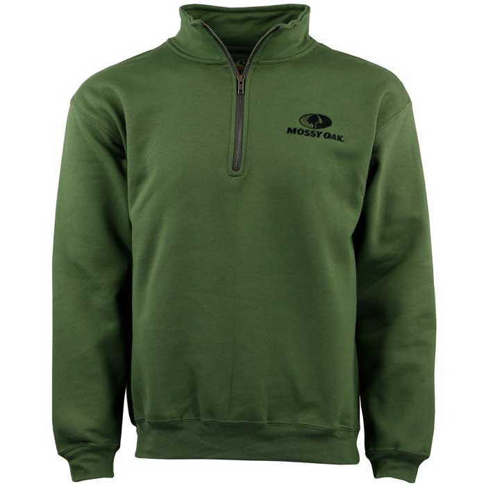 Green Mossy Oak quarter zip sweatshirt