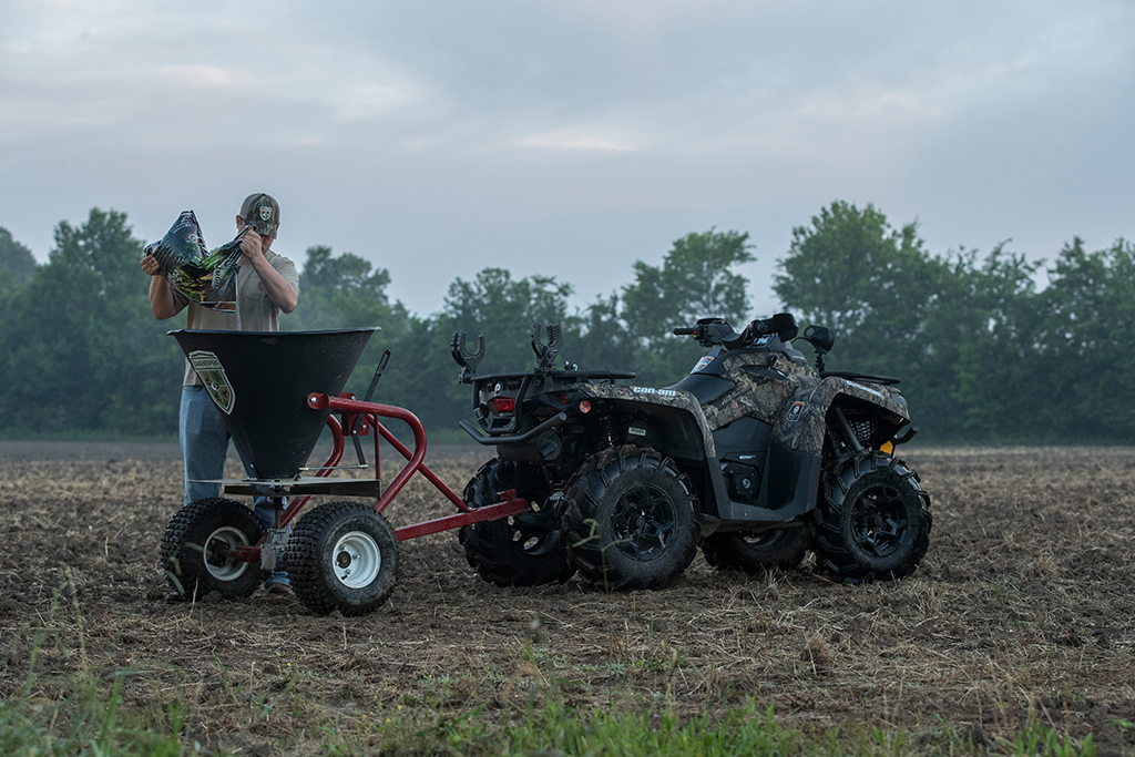 planting with four-wheeler attachment