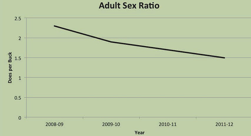 adult sex deer ratio graph