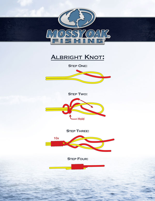 how to tie an Albright knot