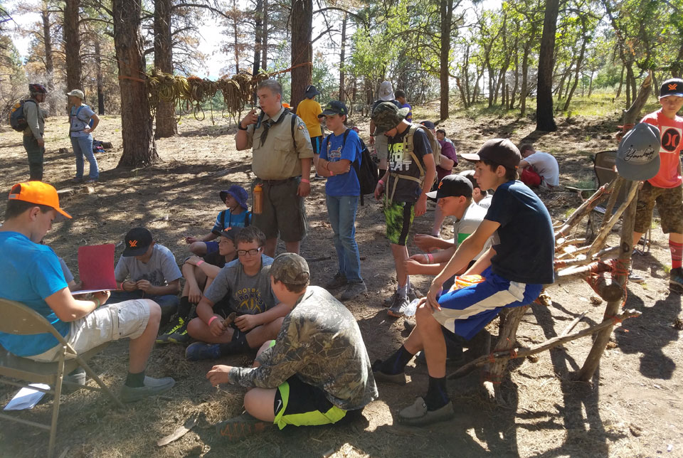 elk scouting with Boy Scouts