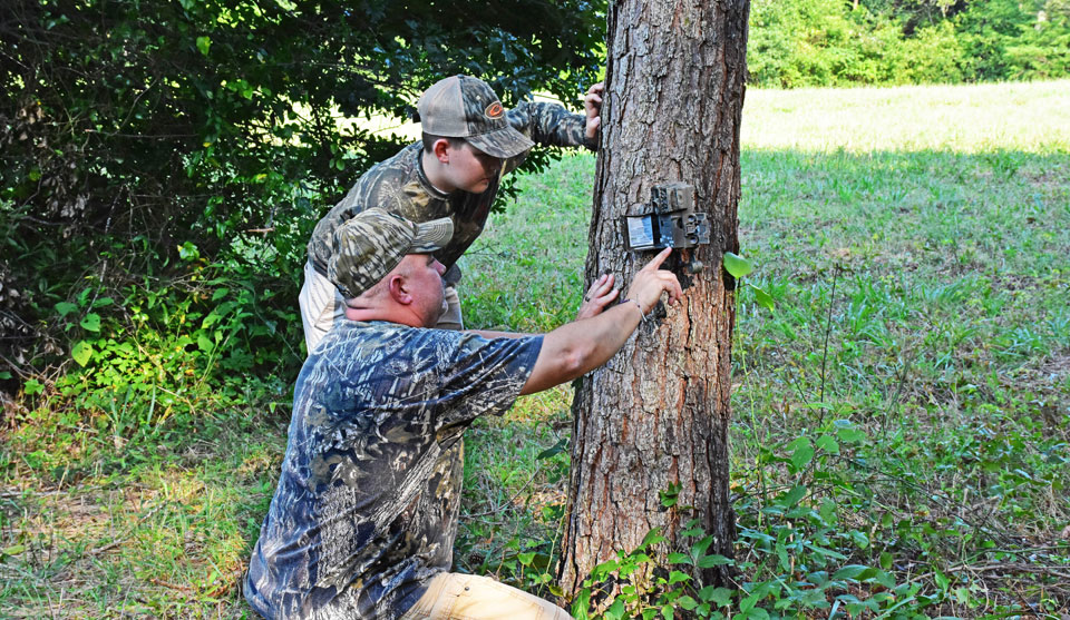 putting out game camera