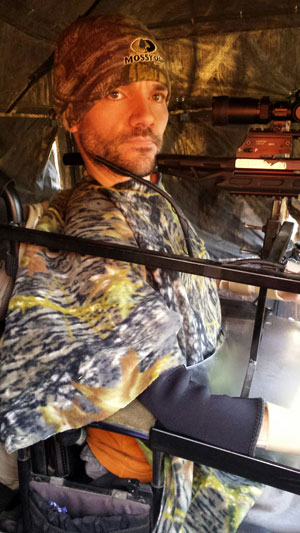 Clint Lindemann in ground blind