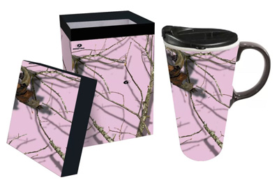 Evergreen mug in Pink camo