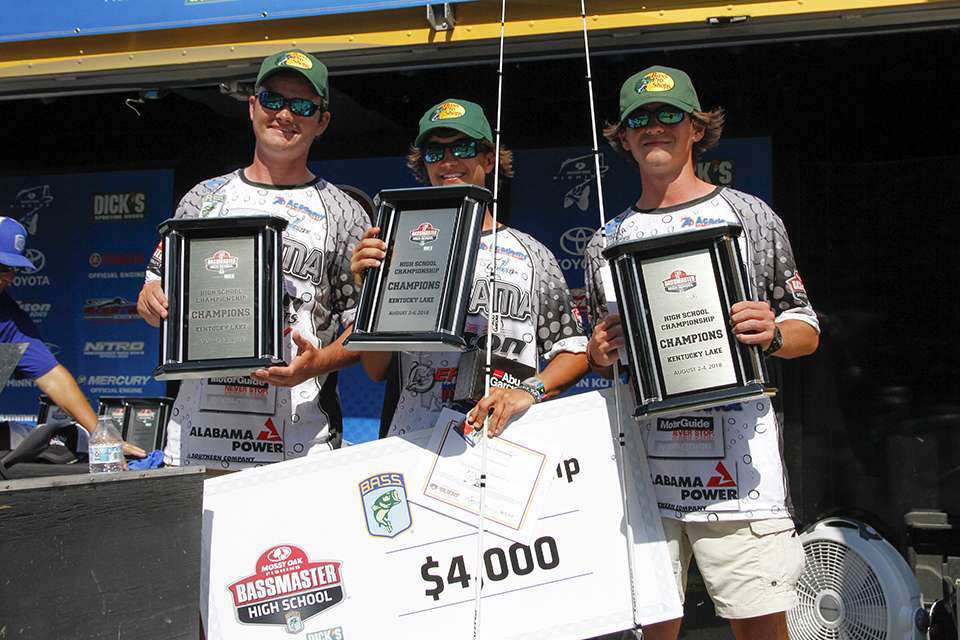 Grayson Morris Tucker Smith 2018 Bassmaster High School National Champions