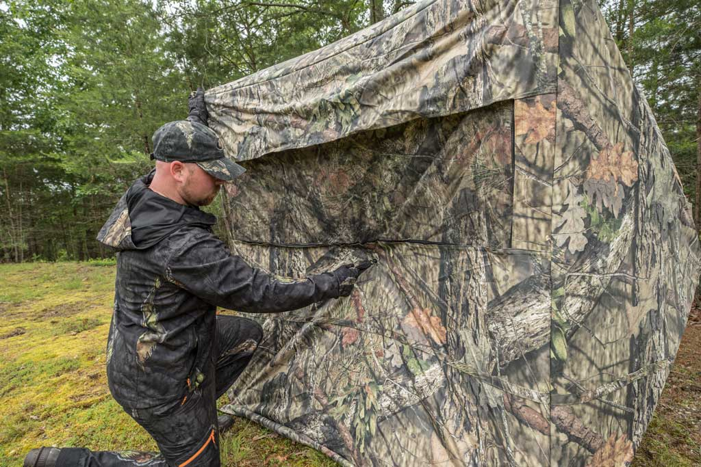 setting up a ground blind