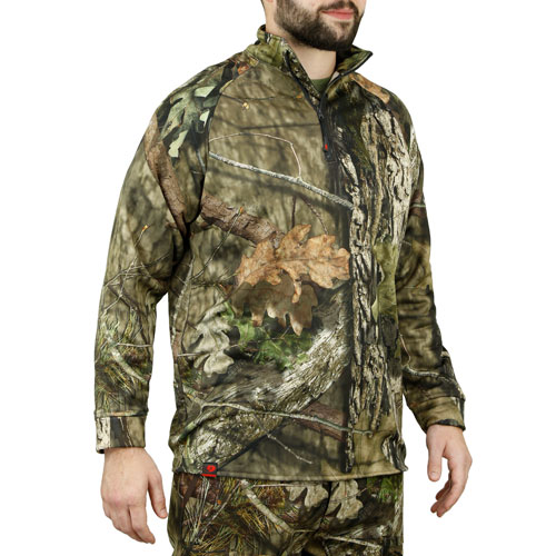 Mossy Oak Break-Up quarter zip