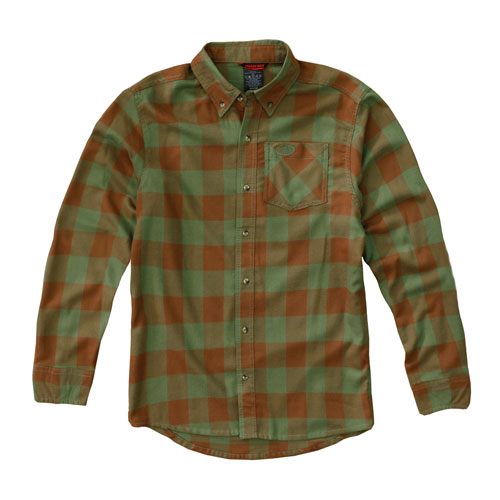 Mossy Oak plaid flannel shirt