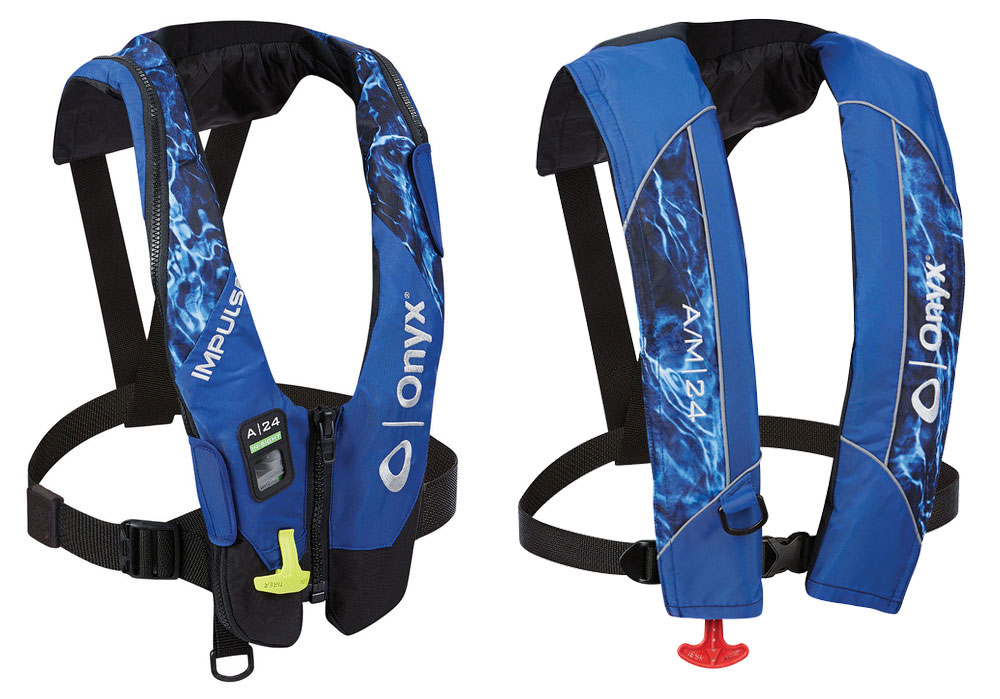 Onyx inflatable life jackets Mossy Oak Elements