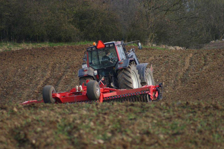 planting with tractor