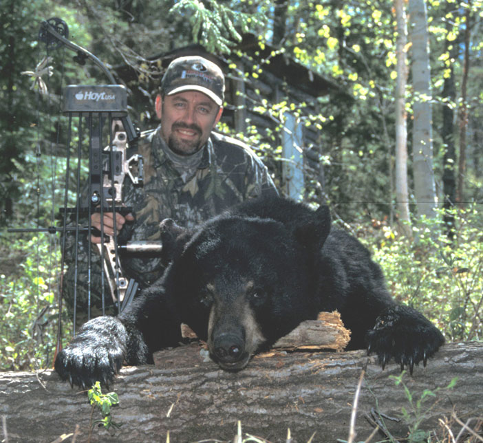 Bob Humphrey with bear