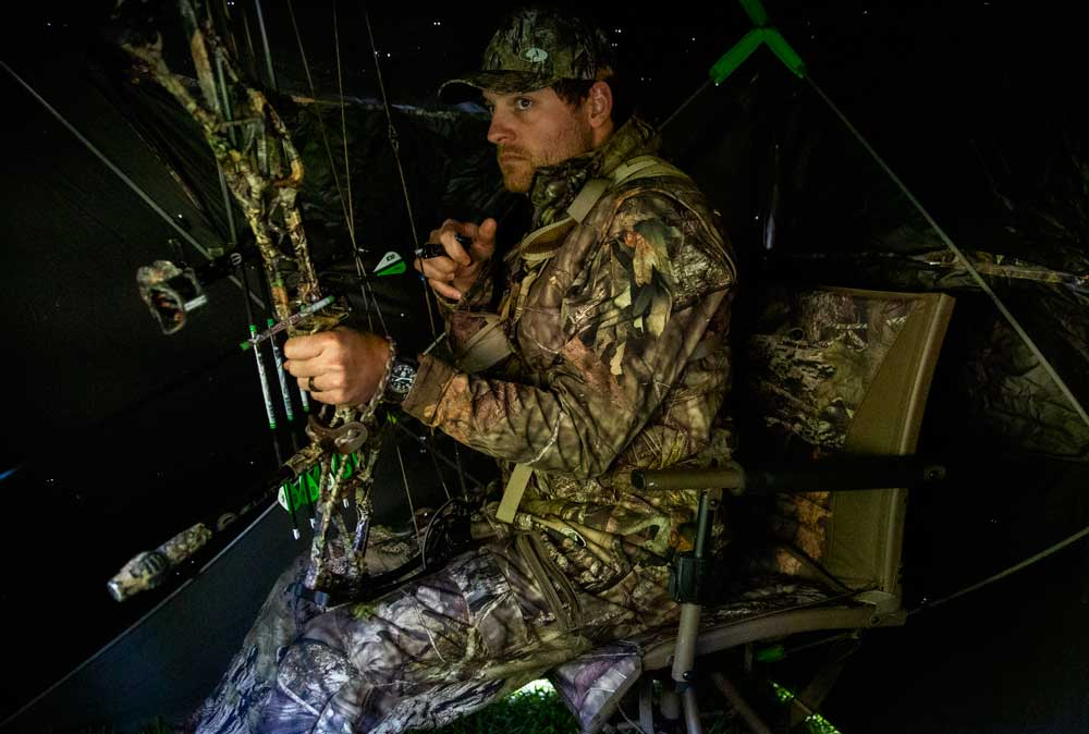 bowhunting in ground blind