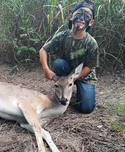 child with doe kill