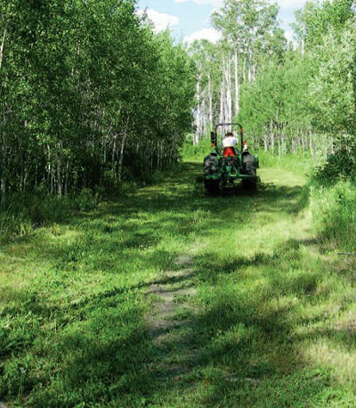 mowing clover trail
