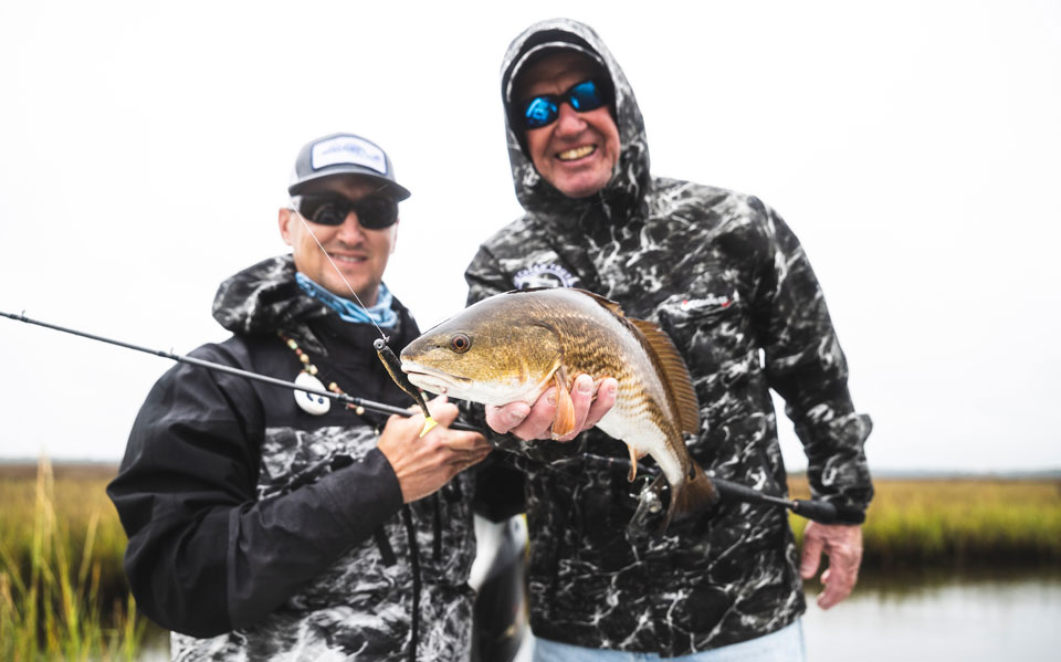 cold weather redfishing