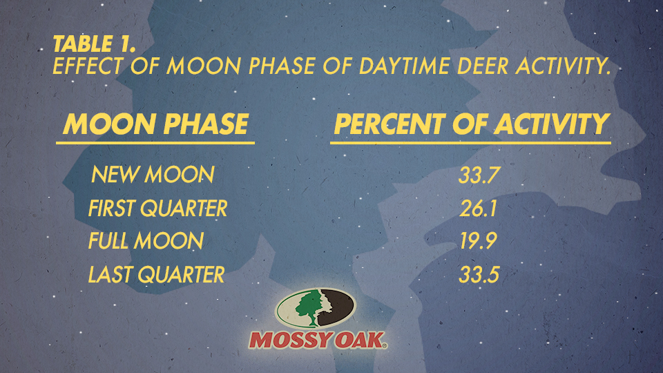deer activity during moon phase