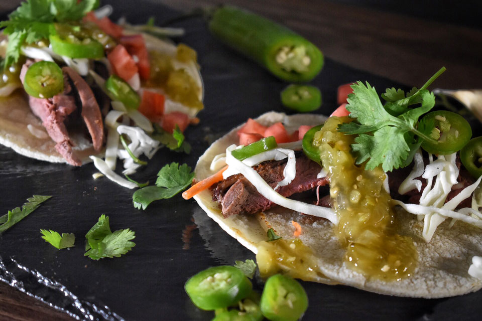 smoked duck tacos