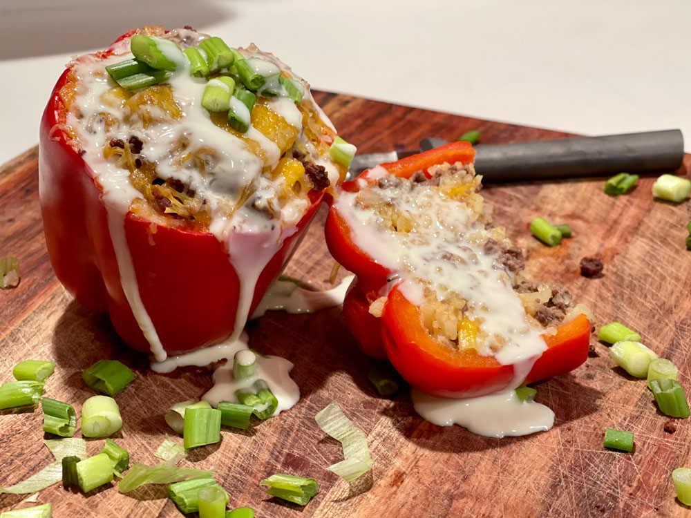elk stuffed bell peppers