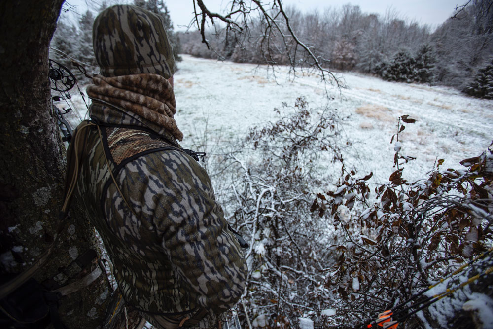 hunting from a treestand
