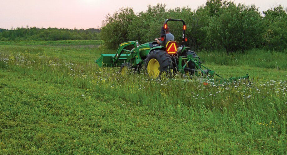 mowing clover