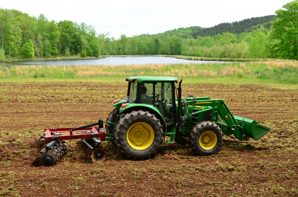 preparing summer food plot