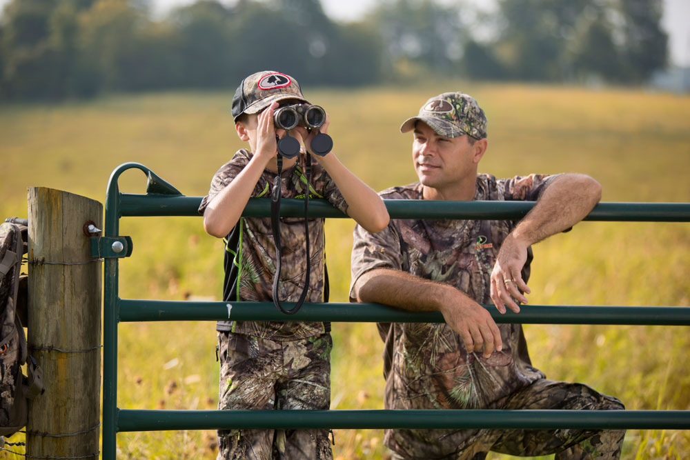 deer scouting with kids