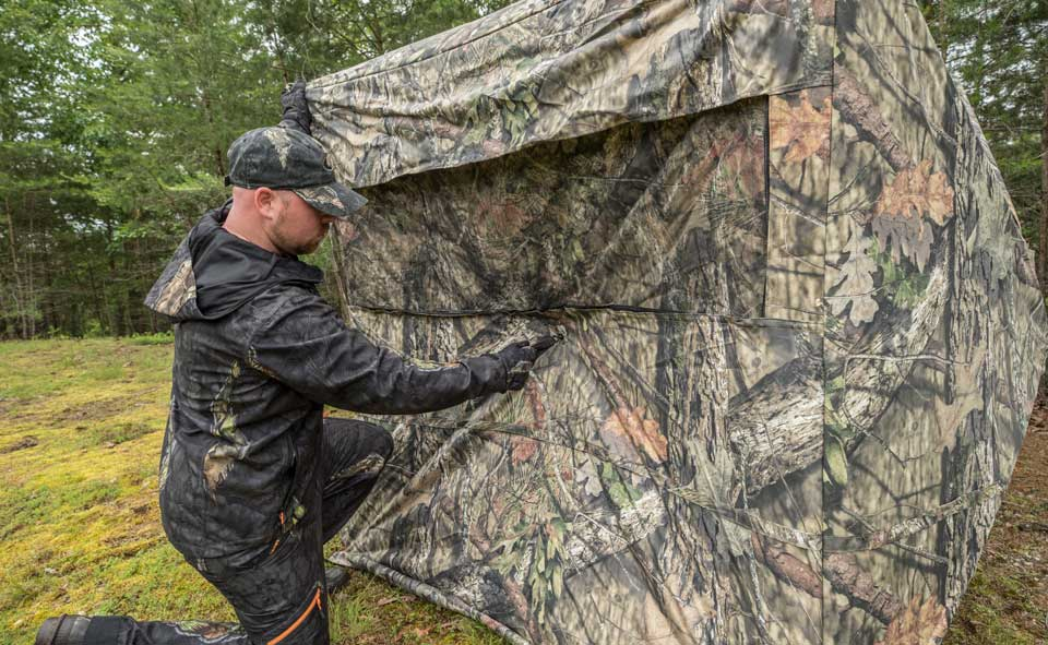 securing a ground blind