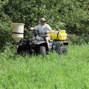 Todd Amenrud spraying weeds